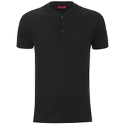 HUGO Men's Dolorado Baseball Collar Polo Shirt - Black