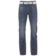 Smith & Jones Men's Farrier Belted Denim Jeans - Medium Wash