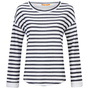 BOSS Orange Women's Treifi Stripe Top - Dark Blue