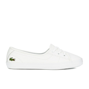 Lacoste Women's Ziane Chunky 116 2 Leather Lace Pumps - White