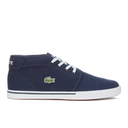Lacoste Men's Ampthill LCR 2 Canvas Chukka Trainers - Blue