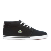 Lacoste Men's Ampthill LCR 2 Canvas Chukka Trainers - Black