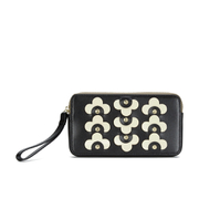 Orla Kiely Women's Confetti Flower Large Zip Purse - Black
