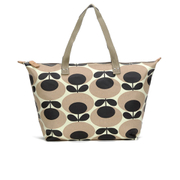 Orla Kiely Women's Stem Zip Shopper Tote Bag - Nude