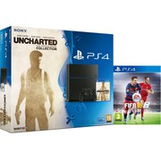 Sony PlayStation 4 500GB Console - Includes Uncharted: The Nathan Drake Collection & FIFA 16
