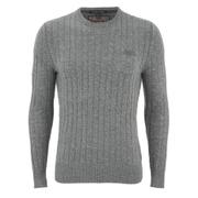 Superdry Men's Harrow Cable Knit Jumper - Grey