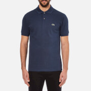 Lacoste Men's Short Sleeve Marl Polo Shirt - Dark Blue Chine