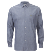 Lacoste Men's Long Sleeve Casual Shirt - Navy