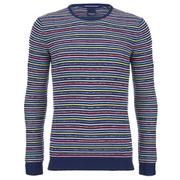 Scotch & Soda Men's Fine Stripe Knitted Jumper - Multi