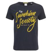 Scotch & Soda Men's Printed Crew Neck T-Shirt - Midnight