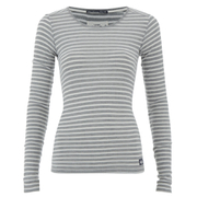 Superdry Women's Super Sewn Skinny Rib Layering T-Shirt - Grey Marl