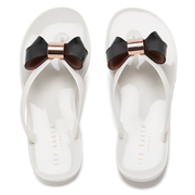 Ted Baker Women's Ettiea Jelly Bow Flip Flops - Cream/Black