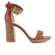 Ted Baker Women's Lorno Leather Block Heeled Sandals - Tan