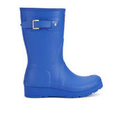 Hunter Women's Original Short Wedged Sole Wellies - Bright Cobalt