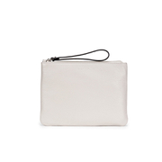 Coccinelle Women's Buste Leather Clutch Bag - White