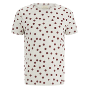 Oliver Spencer Men's Shapes T-Shirt - Oatmeal/Burgundy