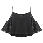 The Fifth Label Women's Sad Song Cold Shoulder Lace Top - Black