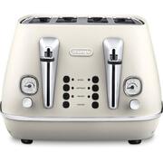 De'Longhi CTI4003.W Distinta 4 Slice Toaster - White Finish