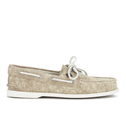 Sperry Men's A/O 2-Eye White Cap Canvas Boat Shoes - Tan