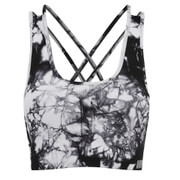 Myprotein Naisten High Support Sports Bra - Black Tie Dye