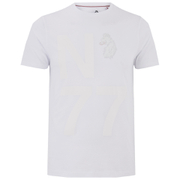 Luke Men's Flame Printed Crew Neck T-Shirt - White