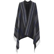 French Connection Women's Chunky Stripe Wrap - Grey - One Size