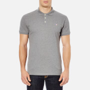 Maison Kitsuné Men's Tricolor Fox Polo Shirt - Grey