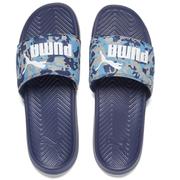 Puma Men's Popcat Camo Slide Sandals - Peacoat/Blue
