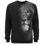 Versus Versace Men's Faded Lion Logo Sweatshirt - Black