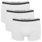 Versace Men's 3 Pack Trunk Boxers - White
