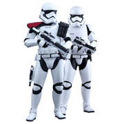 Hot Toys Star Wars Episode Seven 2-Pack First Order Stormtrooper and FOS Officer 11.5 Inch Statue