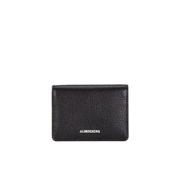 J.Lindeberg Men's Small Leather Wallet - Black