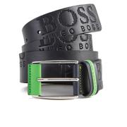 Hugo Boss Green Men's Millow Branded Belt - Navy