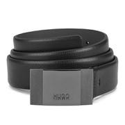 BOSS Hugo Boss Men's C-Baxtero Solid Buckle Leather Belt - Black