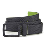 Hugo Boss Green Men's Tomin Textured Belt - Navy