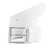 Hugo Boss Green Men's Torialo Branded Belt - White