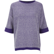 Barbour International Women's Blade Zip Side Jumper - Royal Purple