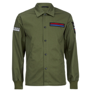 Opening Ceremony Men's Patch Coach Jacket - Army Green