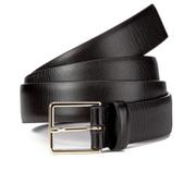 Paul Smith Accessories Men's Embossed Stripe Belt - Black