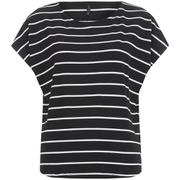ONLY Women's Love Stripe Loose Top - Black
