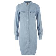 Levi's Women's Iconic Western Dress - Tencel Denim Light Wash