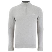 Le Shark Men's Bryon Funnel Neck Zip Jumper - Light Grey Marl