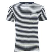 Armor Lux Men's Cotton/Linen Mix T-Shirt - Aviso/Nature