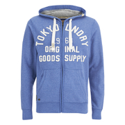 Tokyo Laundry Men's Tomahawk Bay Zip Through Hoody - Cornflower Blue
