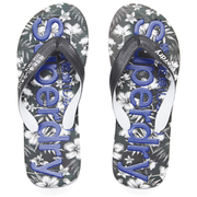 Superdry Men's Aop Flip Flops - Optic Black/Deco Blue