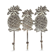 Antiqued Pineapple Coat Hooks