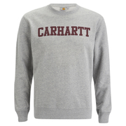 Carhartt Men's College Sweatshirt - Grey/Burgundy