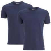 Carhartt Men's Standard Crew Neck Twin Pack T-Shirt - White/Navy