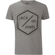 Jack & Jones Men's Core Hex T-Shirt - Grey Marl