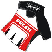 Santini Ducati Classic Race Mitts - White/Red